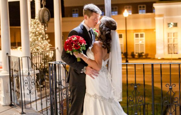 Sightler Wedding Outside Kiss